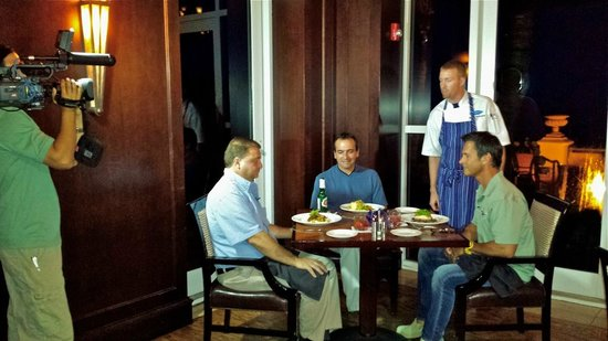 Cobalt Restaurant and Lounge - Vero Beach Hotel and Spa : Dinner Filming