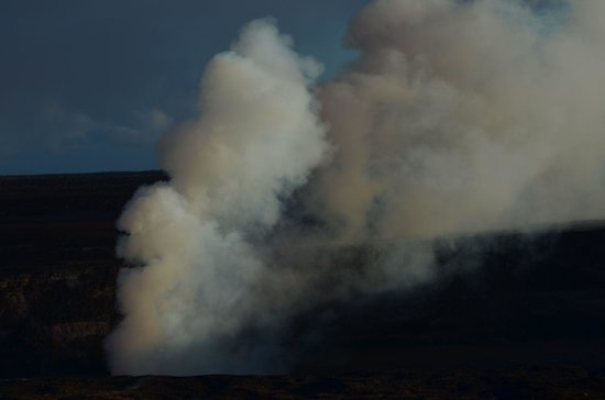 Crater Rim Drive: Blick vom Jaggar Museum zum Halema-umahu-Crater