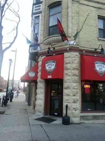 Upper 90 Sports Pub: Just a half block east of the bradley center on State