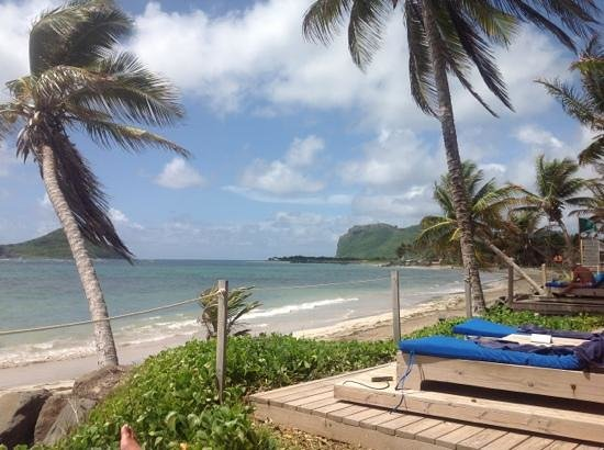 Coconut Bay Beach Resort & Spa: view from sun tracker bed.