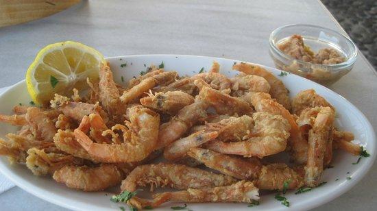 Afros: Fried shrimp