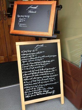 Giovannelli's: The night's menu
