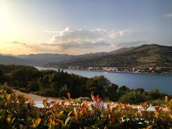 Valamar Argosy Hotel: Sunset from Argosy Hotel, Dubrovnik - July 2013