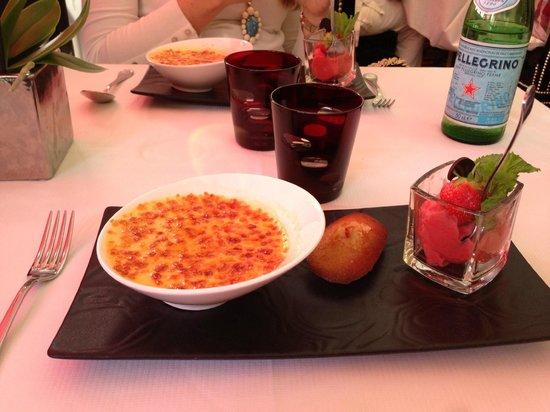 Hotel Barriere Le Majestic Cannes: Best creme brûlée ever...it comes on fire!
