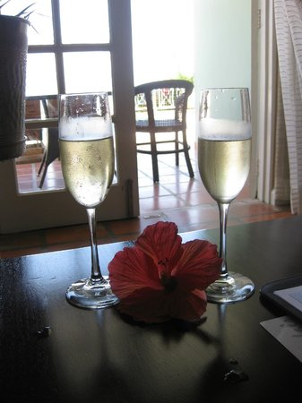 Sandals Ochi Beach Resort: Champagne was on ice, awaiting our arrival