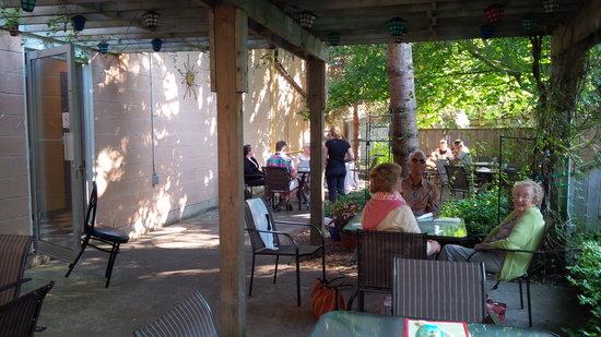 Saffron: patio view