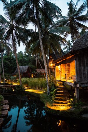 Bambu Indah: Padi House at dusk.