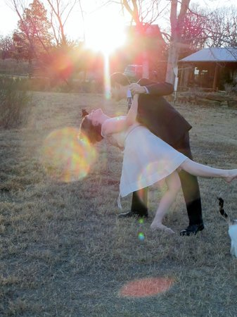 Star of Texas Bed & Breakfast: Dancing on the lawn after wedding