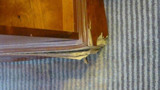The Manor: Damaged bedside furniture