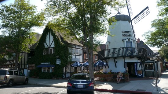 Windmill cafe steps away from the Solvang Festival theater
