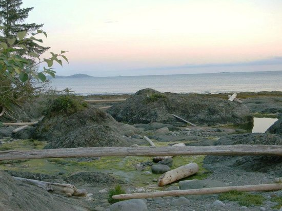 Mussel Beach Campground: beach at sunset