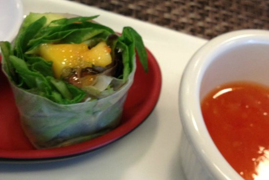 Gachi House of Sushi: what remained of a lovely, light spring roll in rice paper! Yum!