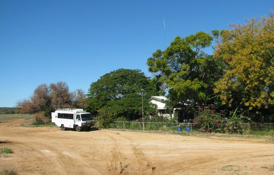 Quilpie, Australia: The mail run vehicle outside Trinidad homestead