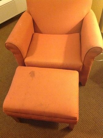 Best Western Sunridge Inn: Stained chair.