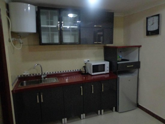 Urban Rose Hotel and Apartment: Kitchenette