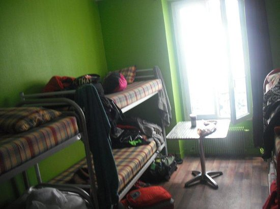 Woodstock Hostel: my room, no place to put our bag hidden when we are out..need to stay in bed..
