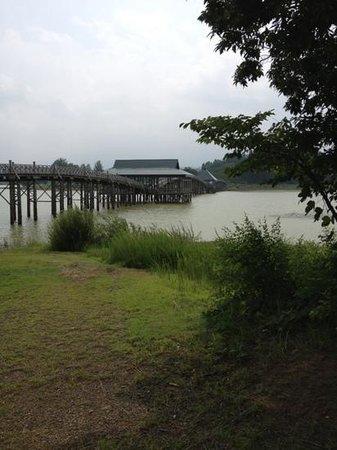 Tsurunomai Bridge: 日本一長い木造橋らしい。