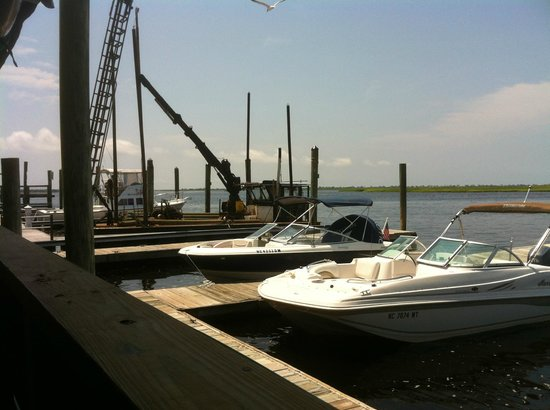 The Provision Company: View from a table next to the dock