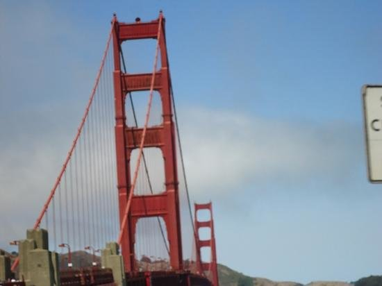 San Francisco Fire Engine Tours & Adventures : Views of the bridge from the bus