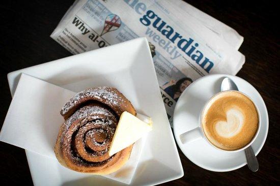 Nova: Cinnamon pinwheel, Allpress coffee