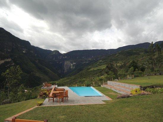Gocta Andes Lodge: Vista desde el Restaurant