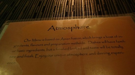 Atmosphere: romantic ambience