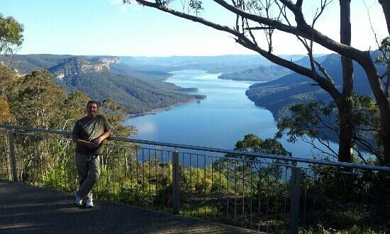 Blue Mountains, Austrália: the lake lookout about 20 mins drive from camden