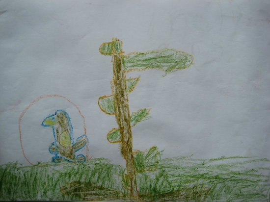 The Begelly Arms Hotel: One of our youngest customers went to Folly Farm and loved the Penguins. So drew us a picture of