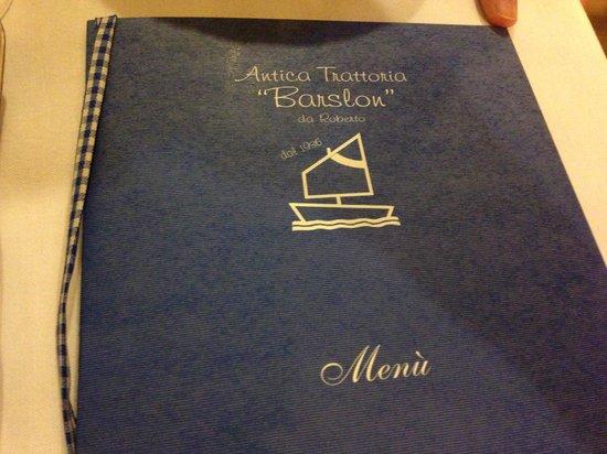 Antica Trattoria Barslon: menù