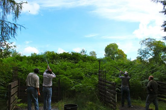 Clay pigeon shooting at House of Mulben