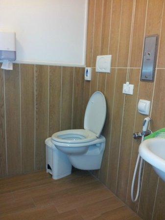 Bagno Per Disabili, wc privo di maniglioni e di sciacquone lato ...