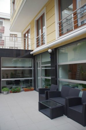 Aura Suites: The front of the apartment