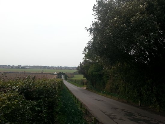 The Highdown Hotel & Restaurant: Road to hotel view