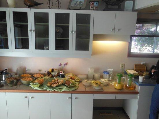 Bear Hill Lodge: Le buffet du petit-déjeuner