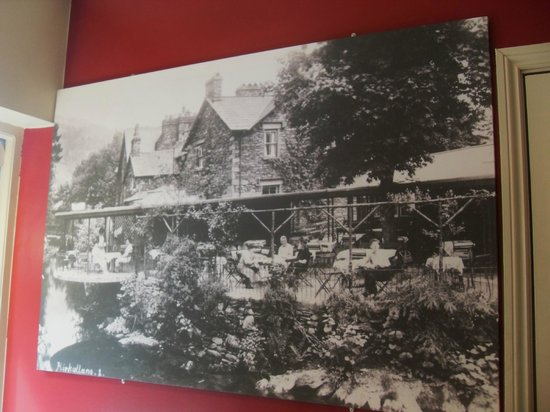 Grasmere Tea Gardens : Canvas picture of old Tea Gardens