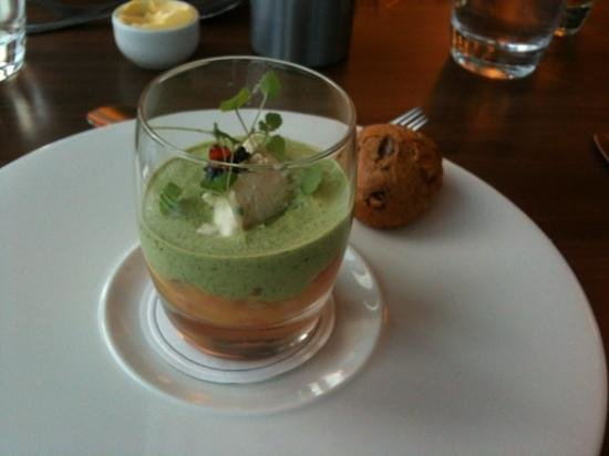 The Brasserie on the Bay: potted salmon with caviar and walnut bread