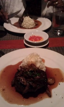 Grapeseed: Filet Mignon with Horseradish Mashed Potatoes