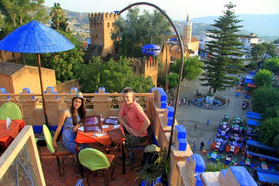 Aladdin Restaurant: View from the terrace at La Lampe Magique