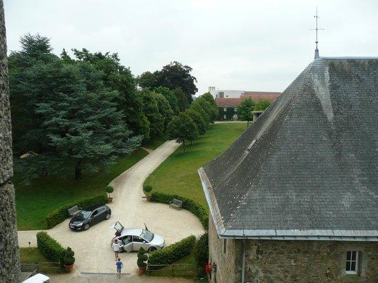 Chateau de la Flocelliere: vue de notre chambre