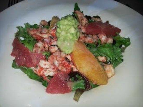 Cap Riviera : salade d écrevisses a la guacamole