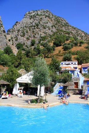 Dar Echchaouen: View from pool