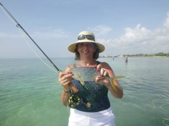 The Western Caribbean Fly Fishing School: Showing off her success