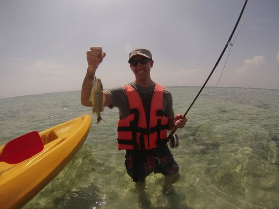 The Western Caribbean Fly Fishing School: Got one!