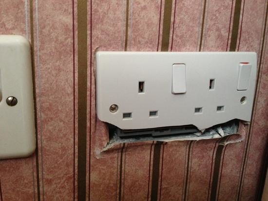 The Inn on the Lake: Plug Socket in Room
