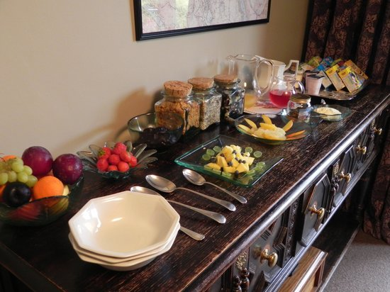 Spooney Green B&B : Lovely fresh fruit