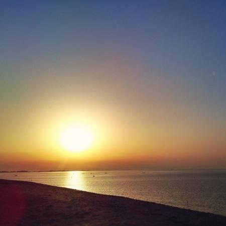Grande Albergo Marin : Sonnenaufgang von Zi 103 gesehen.