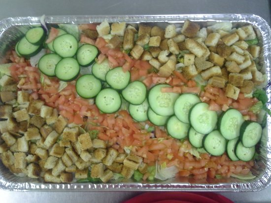 Moose Cafe: Salad from the catering that they do