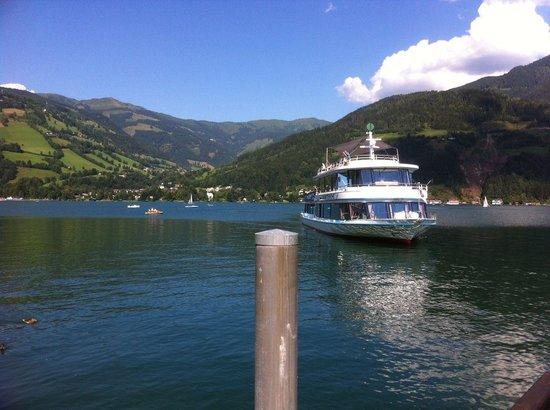Strandbad Zeller See: unser Boot