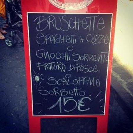 Ristorante Pizzeria Pirozzi: Menù turistico