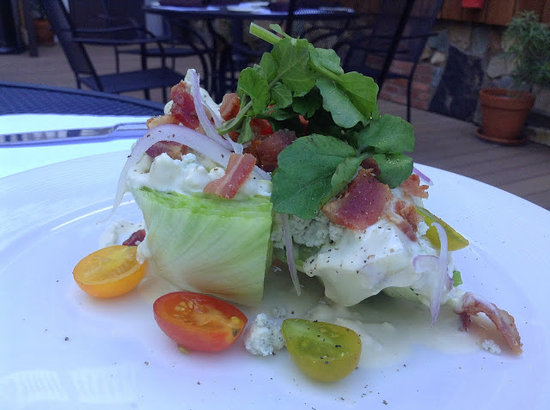 The National Hotel: Wedge salad from Stanley's Steakhouse